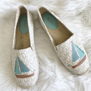 Michael Kors espadrilles sailboat shoes size 11.